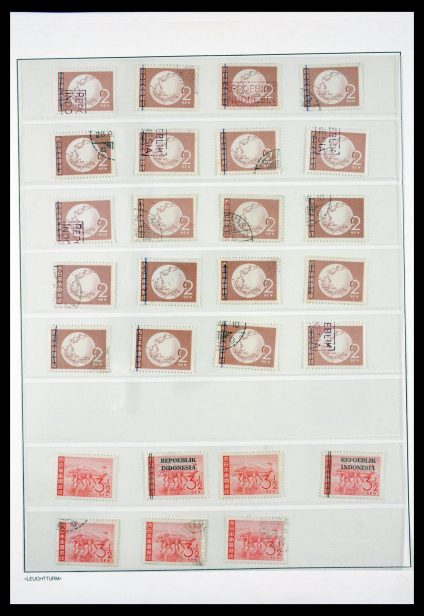 Stamp collection 29786 Interimperiod Indonesia 1945-1948.