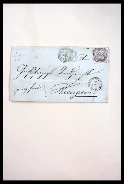 Stamp collection 29789 Thurn & Taxis 1852-1866.