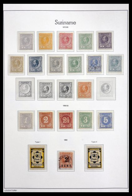 Stamp collection 29805 Surinam 1873-1975.