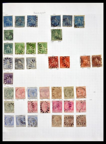 Stamp collection 29823 Barbados 1852-2000.
