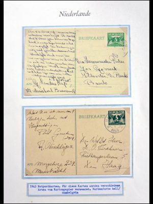 Stamp collection 29824 Netherlands cancels 1945-1946.