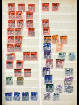 Stamp collection 29832 Japanese occupation Dutch east Indies and interim period.