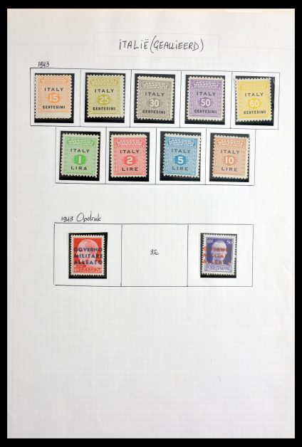 Stamp collection 29855 Triëst 1945-1954.