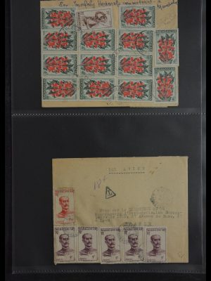 Stamp collection 29885 Madagascar 1890-1950.