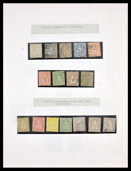 Stamp collection 30031 Switzerland 1854-1990.