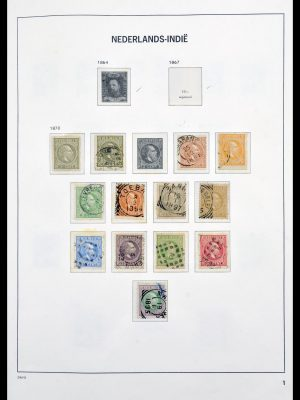Stamp collection 30105 Dutch east Indies 1870-1948.