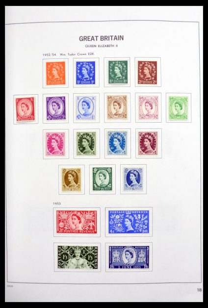 Stamp collection 30133 Great Britain 1952-1997.