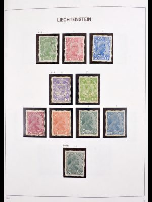 Stamp collection 30185 Liechtenstein 1912-1984.