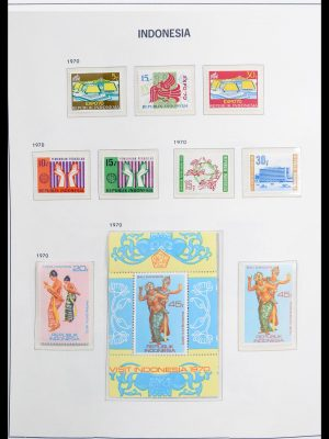 Stamp collection 30236 Indonesia 1970-1985.