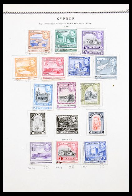 Stamp collection 30293 Cyprus 1928-1975.
