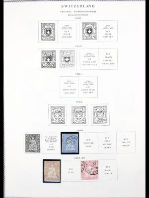 Stamp collection 30296 Zwitserland 1854-1971.