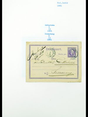 Stamp collection 30311 Dutch east Indies smallround cancels.