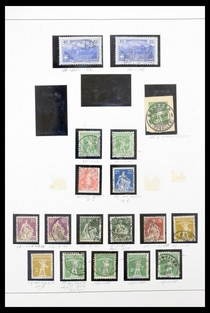 Stamp collection 30323 Switzerland plateflaws  1907-1956.