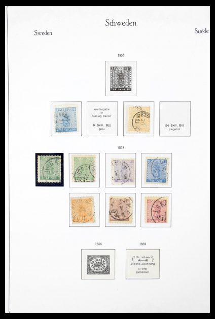Stamp collection 30325 Sweden 1855-1984.