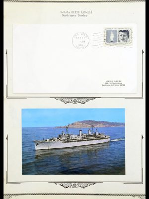 Stamp collection 30341 USA naval cover collection 1930-1970.
