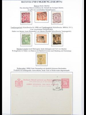 Stamp collection 30363 Dutch east Indies square cancels.