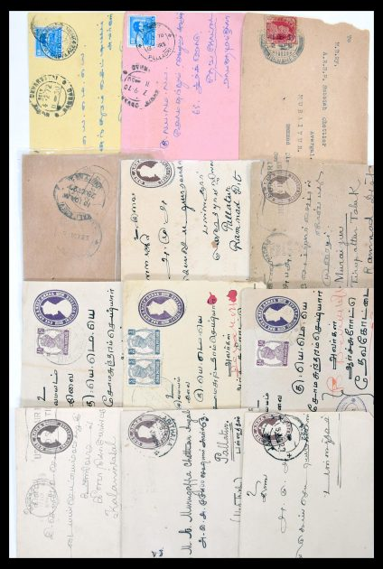 Stamp collection 30386 India covers 1900-1950.