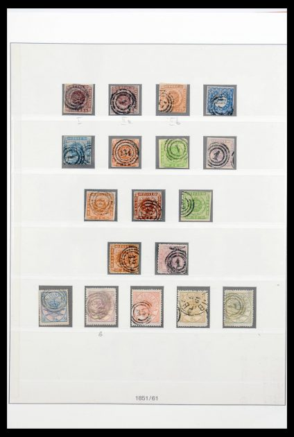 Stamp collection 30417 Denmark complete collection 1851-1955.