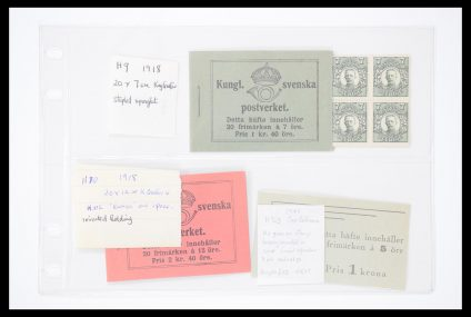 Stamp collection 30447 Sweden booklets 1918(!)-1984.