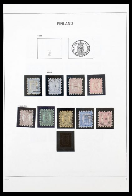 Stamp collection 30464 Finland 1860-1997.