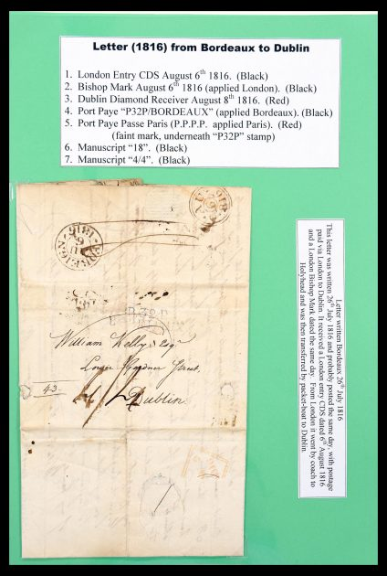 Stamp collection 30481 Great Britain covers 1772(!)-1880.