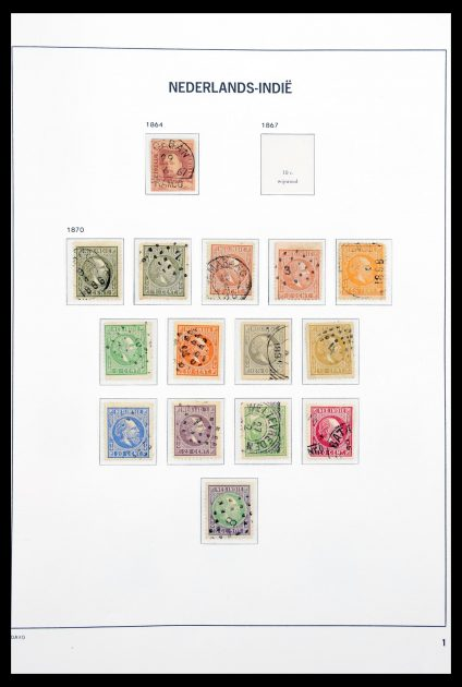 Stamp collection 30509 Dutch east Indies 1864-1948.