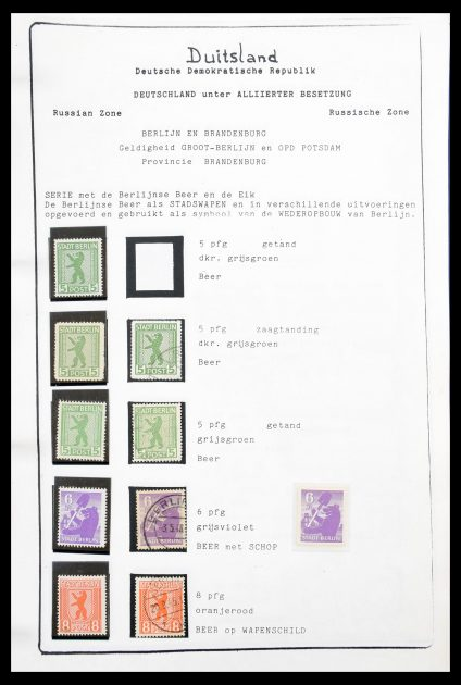 Stamp collection 30516 Sovjetzone 1945-1948.
