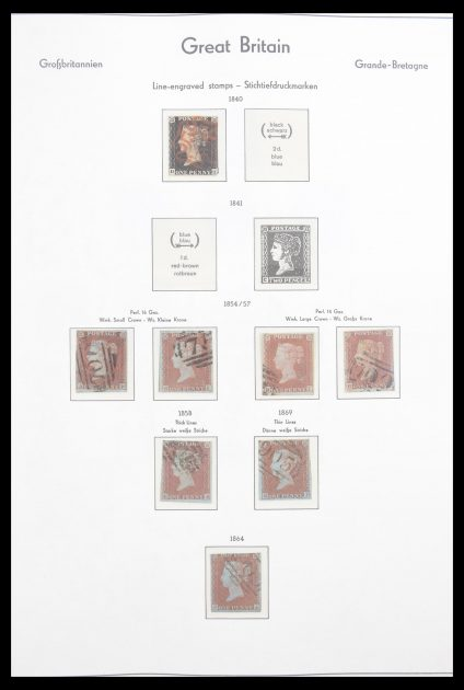 Stamp collection 30543 Great Britain 1840-1966.