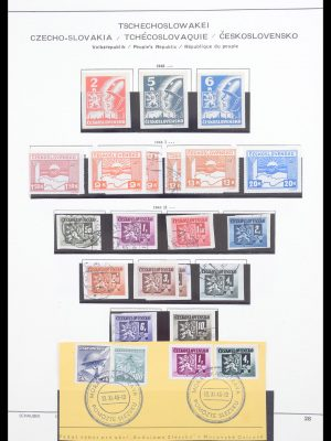 Stamp collection 30546 Czechoslovakia 1945-1959.