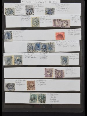 Stamp collection 30572 Numeral cancels Australian States.