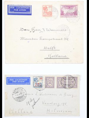 Stamp collection 30574 Dutch east Indies airmail covers 1923-1940.