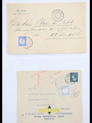 Stamp collection 30578 Netherlands postage dues on cover.