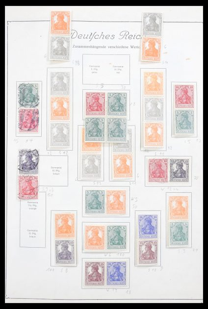 Stamp collection 30602 German Reich combinations 1915-1941.