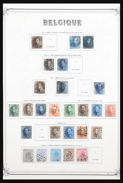 Stamp collection 30639 Belgium 1849-1995.
