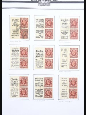 Stamp collection 30662 Great Britain combinations from stamp booklets 1912-1942.