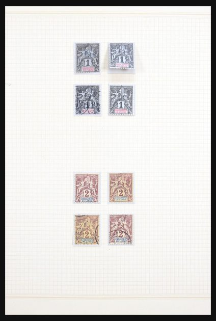 Stamp collection 30676 French India 1892-1948.