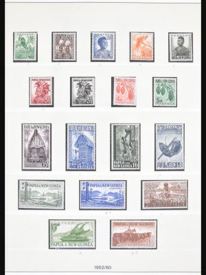 Stamp collection 30688 Papua New Guinea 1952-1991.