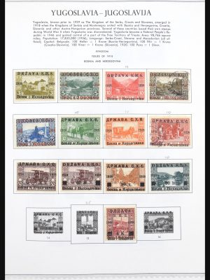 Stamp collection 30692 Yugoslavia 1918-1998.