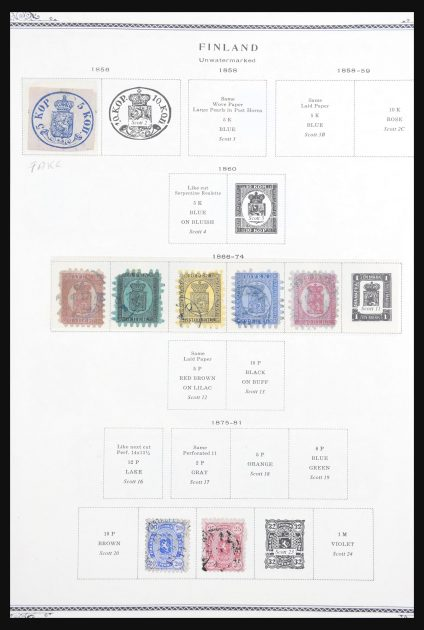 Stamp collection 30693 Finland 1866-2000.