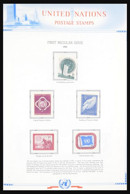 Stamp collection 30694 United Nations 1951-2003.