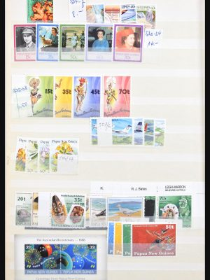 Stamp collection 30709 Papua New Guinea 1915-1990.