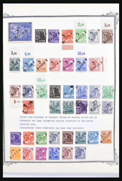 Stamp collection 30713 Germany sovjet zone/localpost 1945-1948.