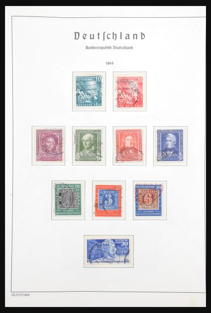 Stamp collection 30721 Bundespost 1949-1978.