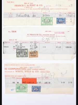Stamp collection 30732 USA revenues on document 1868-1955.