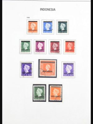 Stamp collection 30788 Indonesia 1949-1961.