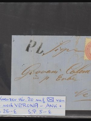 Stamp collection 30802 Austria covers 1843-1890.