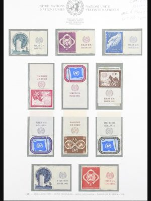 Stamp collection 30808 United Nations 1951-1980.