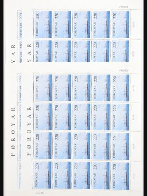 Stamp collection 30815 Faroe Islands 1983-1986.