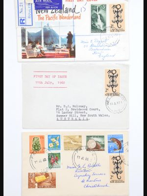 Stamp collection 30821 New Zealand FDC's 1960-1971.