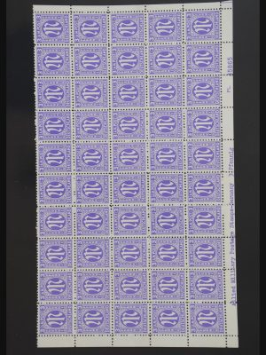 Stamp collection 30824 Germany AM post complete sheets.
